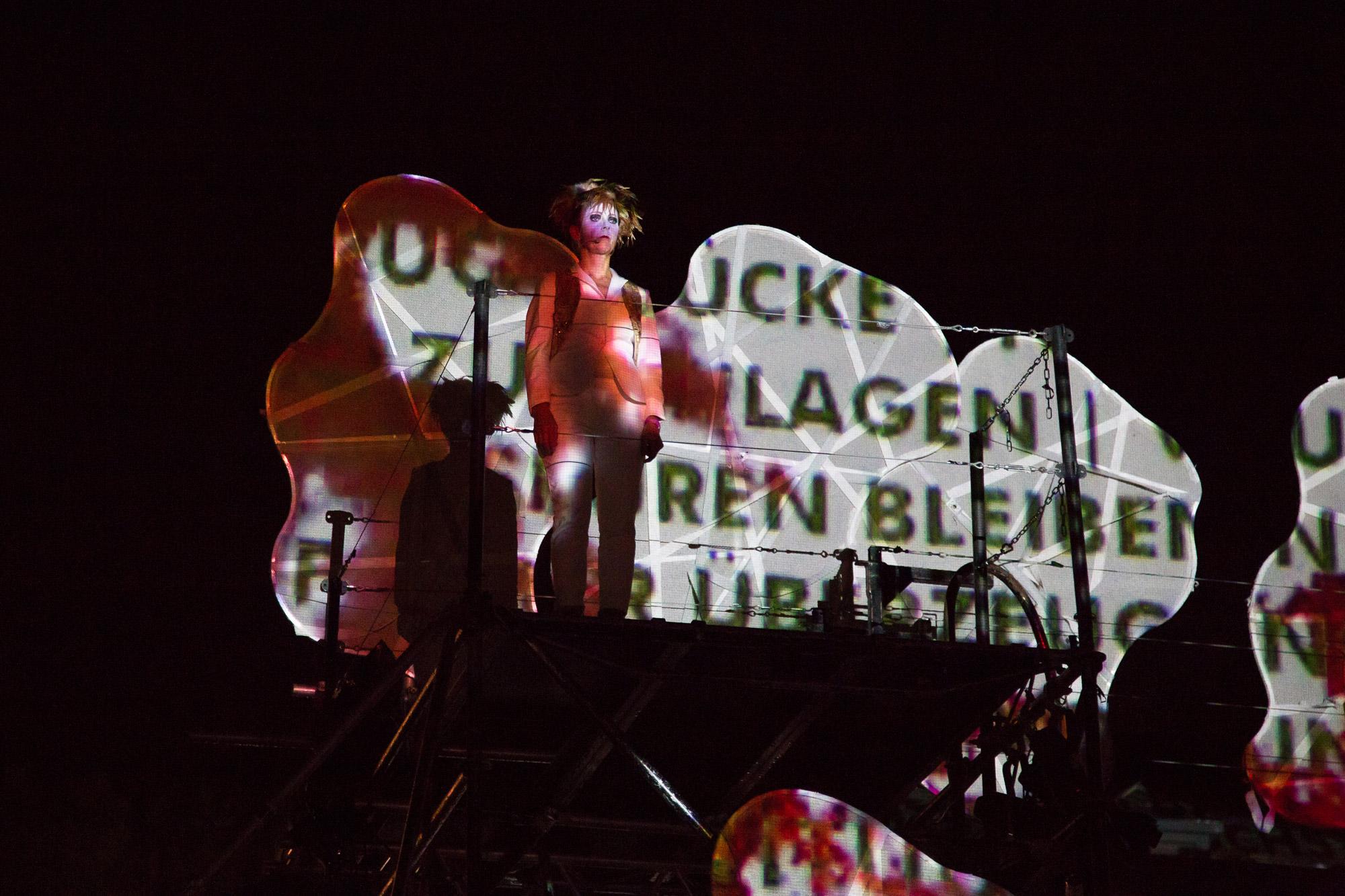 Platzinszenierung, PAN.OPTIKUM, TRANSITion, Annette Huber, Sigrun Fritsch, Pyrotechnik, Klaus Ulrich, Matthias Rettner
