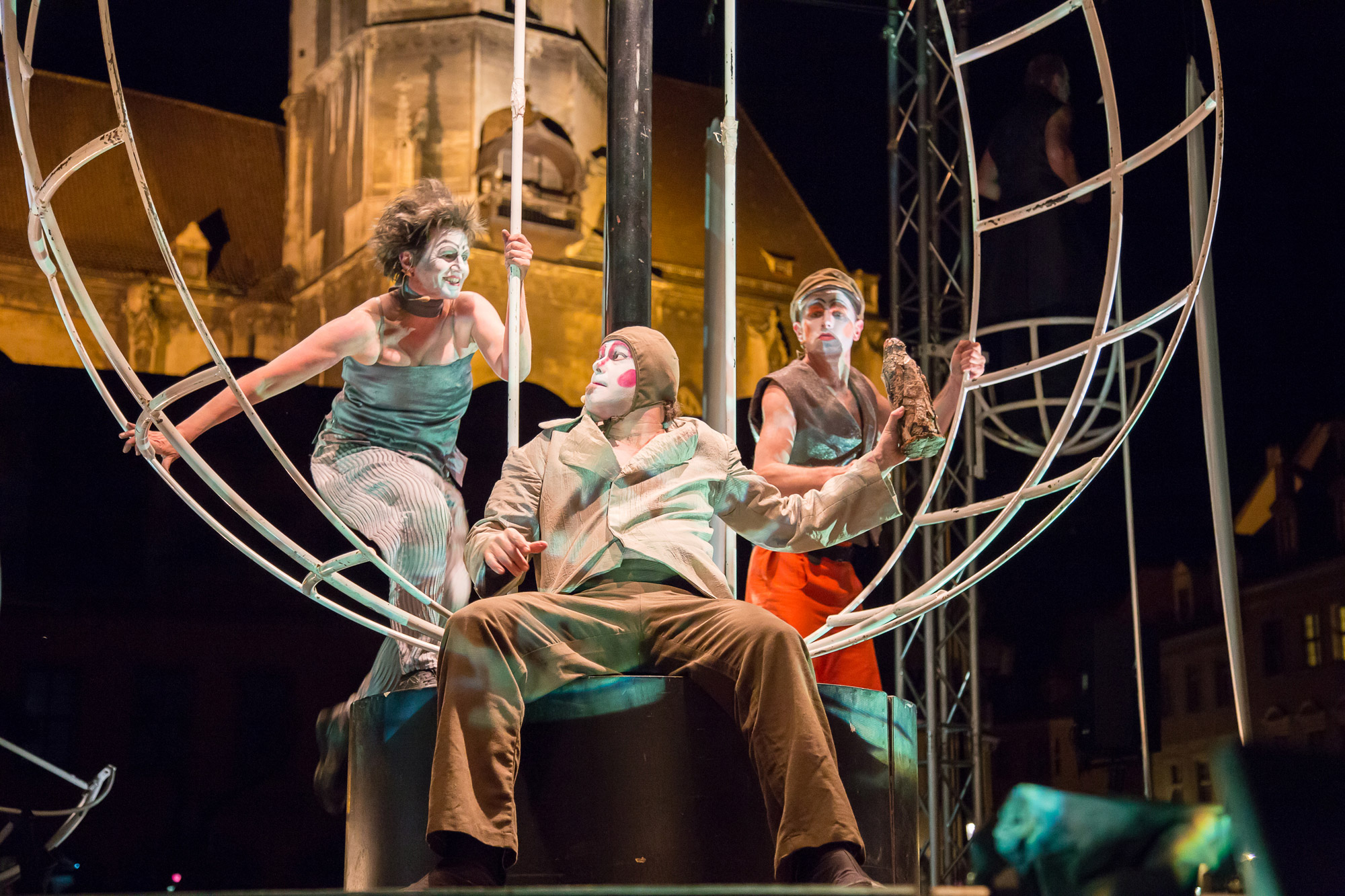 Shakespeare, Tempest, Sturm, Naumburg, PAN.OPTIKUM, Straßentheater, Sabine Noll, Willi Schindler, Wolfgang Dvorak,