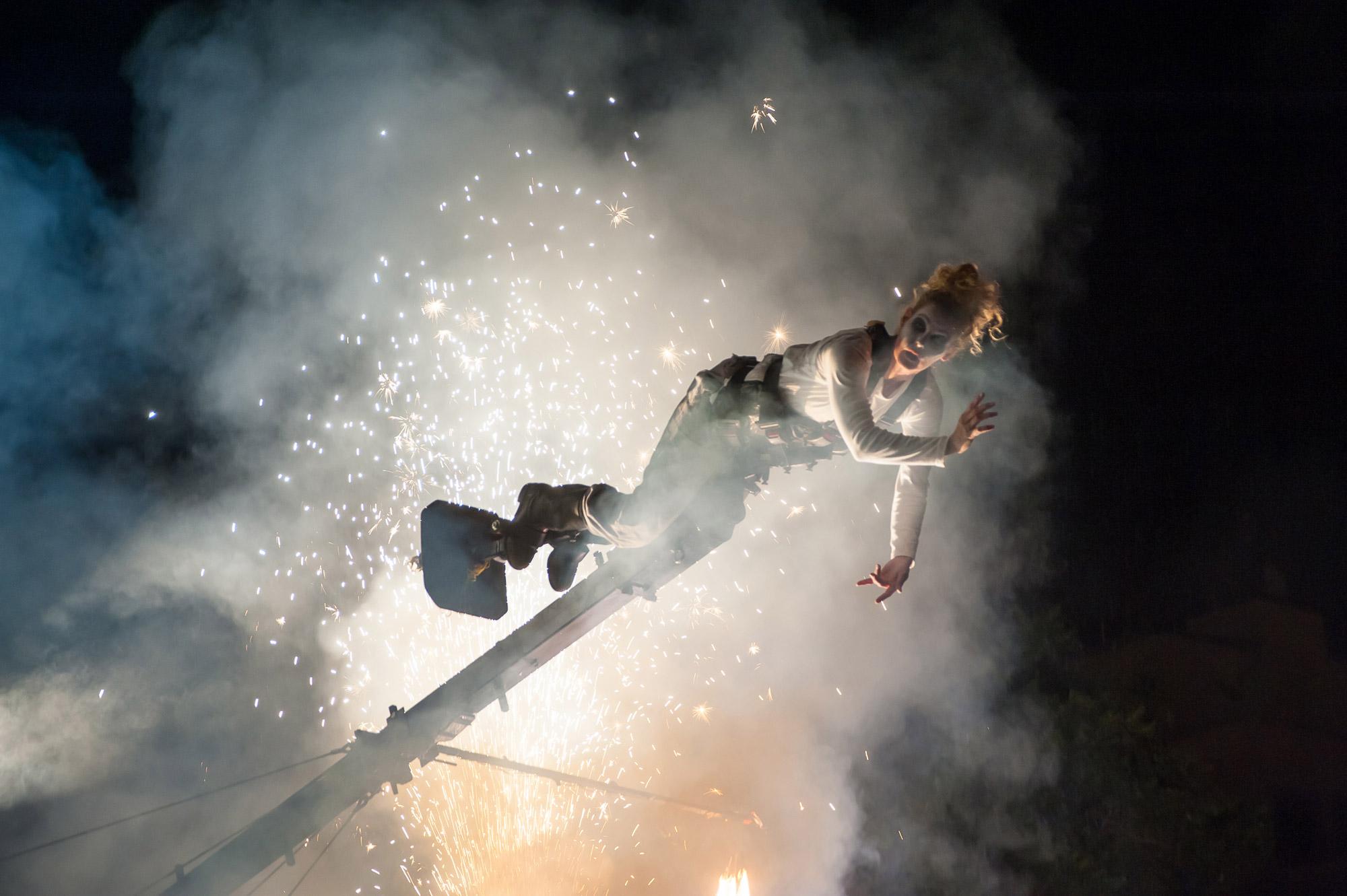 Las Palmas de Gran Canaria, Temudas Festival, PAN.OPTIKUM, TRANSITion, Platzinszenierung, Sigrun Fritsch, Pyrotechnik, Klaus Ulrich, Matthias Rettner